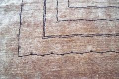 Boccara Boccara Hand Knotted Minimalist Artistic Silk Rug Design N 33 Brown - 1041248