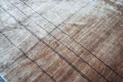 Boccara Boccara Hand Knotted Minimalist Artistic Silk Rug Design N 33 Brown - 1041249