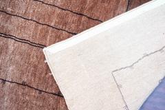 Boccara Boccara Hand Knotted Minimalist Artistic Silk Rug Design N 33 Brown - 1041250