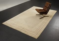 Boccara Boccara Hand knotted Minimalist Artistic Silk Rug Design N 33 Beige - 999532