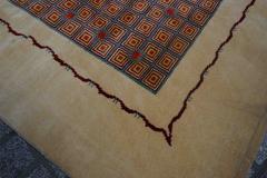 Boccara Boccara Limited Edition Artistic Wool Rug African Ethnic Design - 1041063