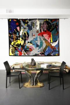 Boccara Boccara Limited Edition Hand Knotted Artistic Rug Street Art  - 1022907
