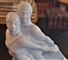 Boch Fr res Keramis Co Belgian Art Deco Charles Catteau BFK Ice Skater Sculpture - 1795636