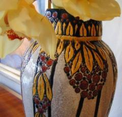 Boch Fr res Keramis Co Boch Catteau Vase - 1482809