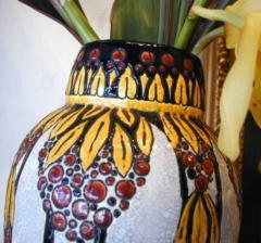 Boch Fr res Keramis Co Boch Catteau Vase - 1482810