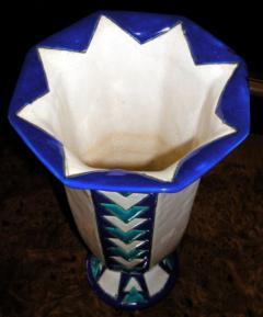 Boch Fr res Keramis Co Boch Chevron Vase Catteau - 1482794