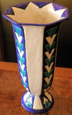 Boch Fr res Keramis Co Boch Chevron Vase Catteau - 1482797