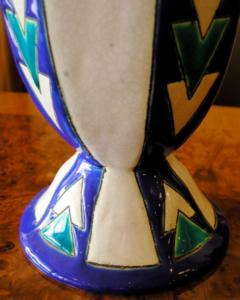Boch Fr res Keramis Co Boch Chevron Vase Catteau - 1482798