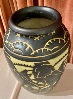 Boch Fr res Keramis Co Boch Freres Charles Catteau Animal Stoneware Primitive Vase Art Deco - 1748863