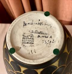 Boch Fr res Keramis Co Boch Freres Charles Catteau Animal Stoneware Primitive Vase Art Deco - 1748888