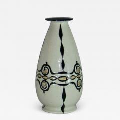 Boch Fr res Keramis Co Catteau Boch Freres Art Deco Geometric Stoneware Vase - 1601779