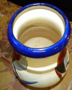 Boch Fr res Keramis Co Catteau Era Ceramic Art Deco Vase with Bird - 1482731
