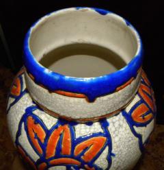 Boch Fr res Keramis Co Catteau Era Ceramic Art Deco Vase with flower motif - 1482725