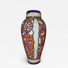 Boch Fr res Keramis Co Catteau Era Ceramic Art Deco Vase with flower motif - 1484126
