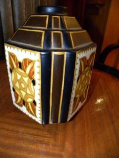 Boch Fr res Keramis Co Charles Catteau La Louviere Hexagon Vase - 1482746
