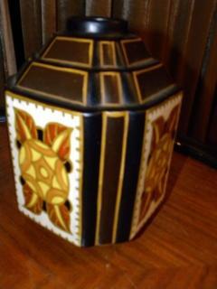 Boch Fr res Keramis Co Charles Catteau La Louviere Hexagon Vase - 1482747