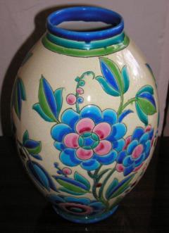 Boch Fr res Keramis Co Keramis Boch Ceramic Vase - 1482772
