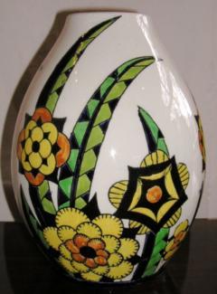 Boch Fr res Keramis Co Rare Boch Pottery Vase - 1482770