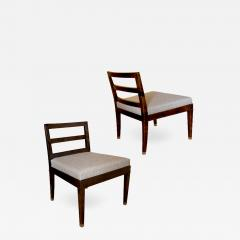 Bodafors Pair of Art Deco slipper chairs in stained birch by Bodafors - 751608