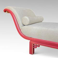 Boet Sweden Exceptional Daybed in Vermillion Lacquer by Otto Schulz for Boet - 1882644