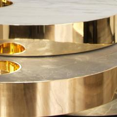 Bohinc Studio Solaris Small Kinetic Table in Marble and 18 Carat Gold Plated Brass - 431737