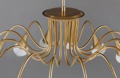 Bohlmarks AB Scandinavian Midcentury Starburst Chandeliers in Brass by B hlmarks Sweden - 851110
