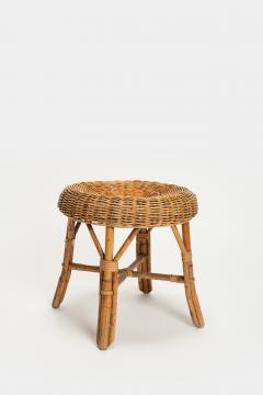 Bonacina Bonacina stool bamboo and rattan braided - 1908122