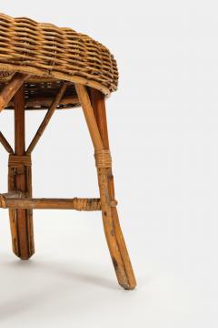 Bonacina Bonacina stool bamboo and rattan braided - 1908185