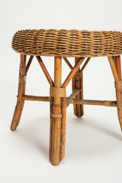 Bonacina Bonacina stool bamboo and rattan braided - 1908187