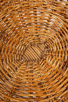 Bonacina Bonacina stool bamboo and rattan braided - 1908190
