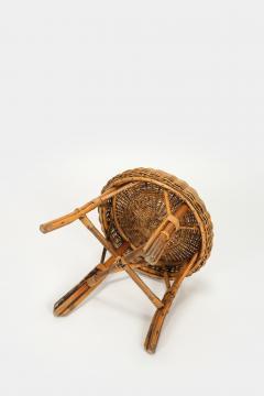 Bonacina Bonacina stool bamboo and rattan braided - 1908198