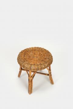 Bonacina Bonacina stool bamboo and rattan braided - 1908199