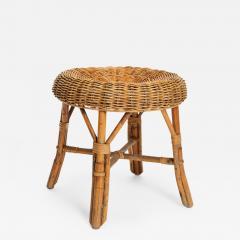 Bonacina Bonacina stool bamboo and rattan braided - 1909652