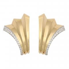Boucheron BOUCHERON Retro Diamond Gold Double Clip Pin - 46142