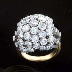 Boucheron Boucheron Diamond Platinum and Gold Bomb Ring - 293787