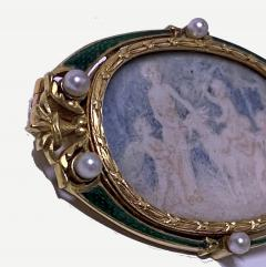 Boucheron Boucheron Enamel Gold Pearl Portrait Brooch circa 1890 - 1819475