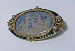 Boucheron Boucheron Enamel Gold Pearl Portrait Brooch circa 1890 - 1819476