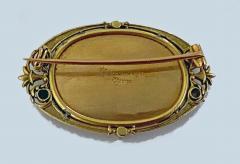 Boucheron Boucheron Enamel Gold Pearl Portrait Brooch circa 1890 - 1819477