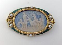 Boucheron Boucheron Enamel Gold Pearl Portrait Brooch circa 1890 - 1819478