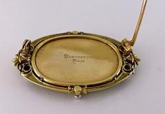 Boucheron Boucheron Enamel Gold Pearl Portrait Brooch circa 1890 - 1819479