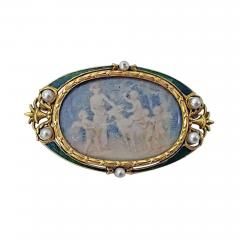Boucheron Boucheron Enamel Gold Pearl Portrait Brooch circa 1890 - 1819695