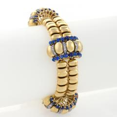 Boucheron Boucheron Paris Retro Diamond Blue Sapphire and Gold Bracelet - 1099745