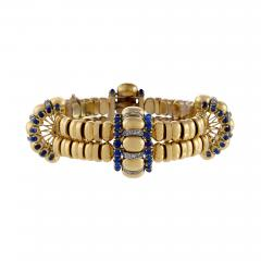 Boucheron Boucheron Paris Retro Diamond Blue Sapphire and Gold Bracelet - 1101526