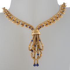 Boucheron Boucheron Paris Retro Sapphire and Gold Necklace - 718041