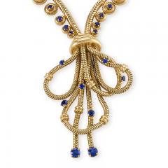 Boucheron Boucheron Paris Retro Sapphire and Gold Necklace - 718042