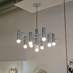 Boulanger Chrome Chandelier by Boulanger 1960 - 660728