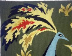 Bouquet doiseaux bleus Tapestry Signed by Claude Bleynie - 1926073