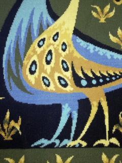 Bouquet doiseaux bleus Tapestry Signed by Claude Bleynie - 1926075