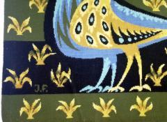 Bouquet doiseaux bleus Tapestry Signed by Claude Bleynie - 1926077