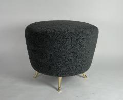 Bourgeois Boheme Atelier Arc Poof Charcoal Boucle - 2108527